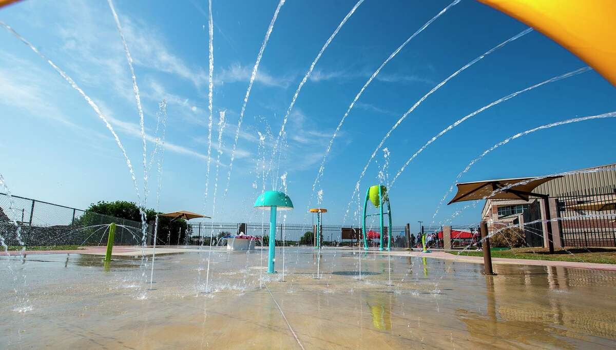 Amenities of El Eden Splash Park are showcased Wednesday, April 7, 2021 during the park's grand opening and ribbon cutting ceremony.