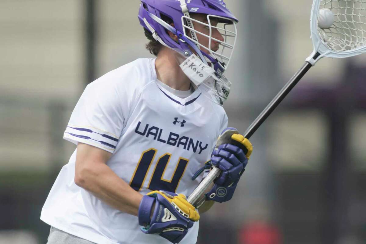 UAlbany goalie Liam Donnelly and his teammates take on NJIT on Saturday.(Paul Buckowski/Times Union)