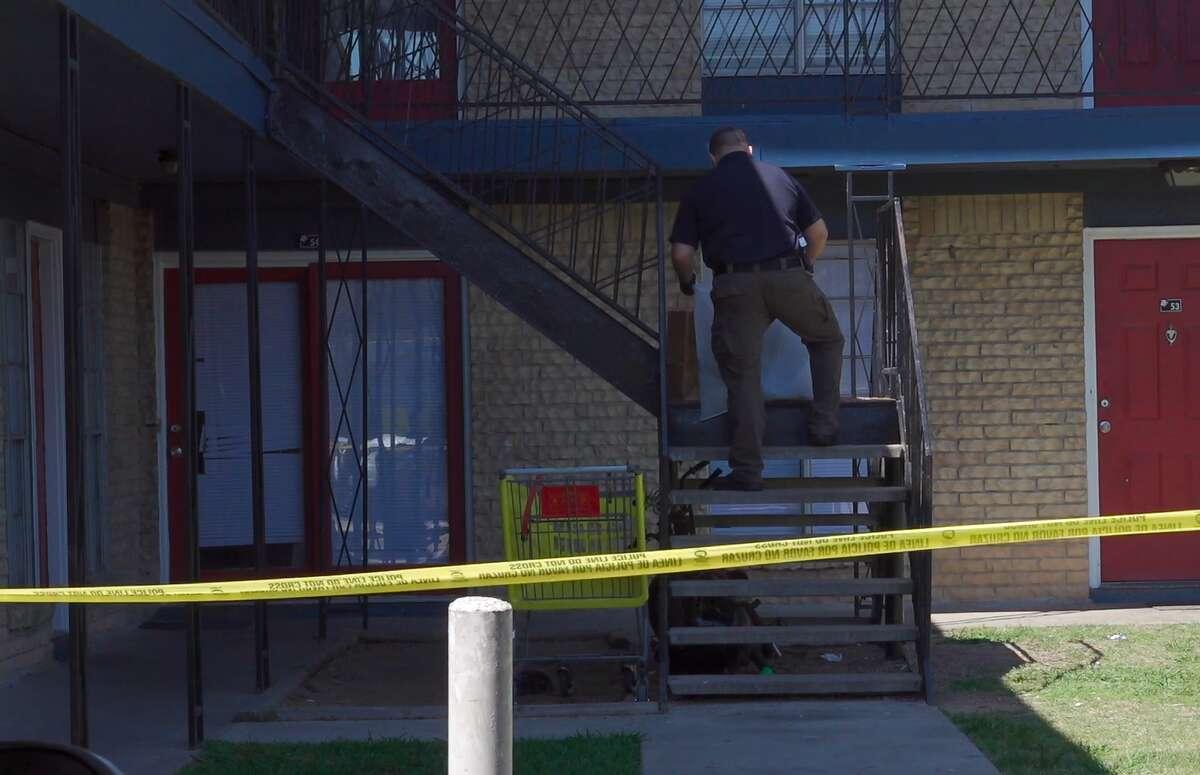 Police investigate a death in the 800 block of Allen Genoa Road in South Houston.