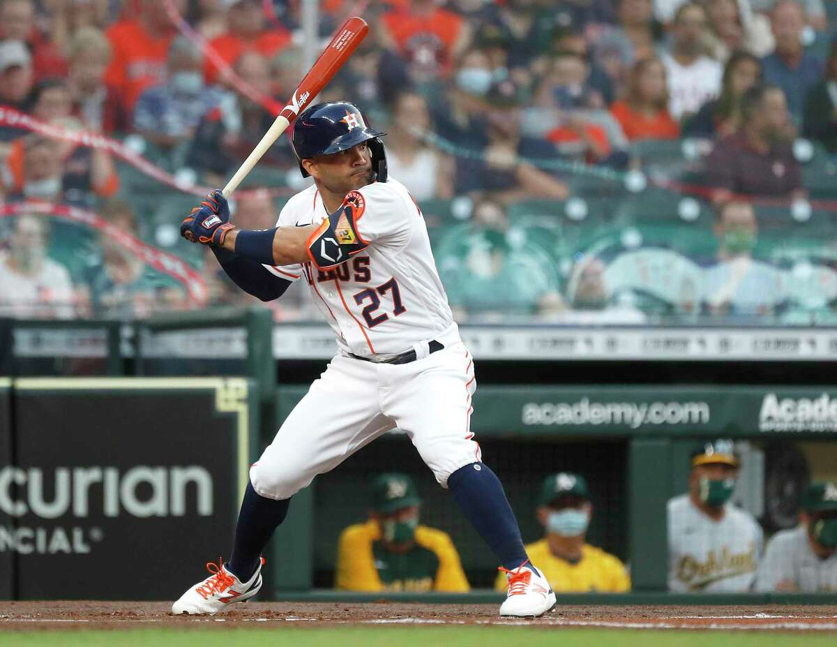 After hitting .219 in 2020, Astros second baseman Jose Altuve is off to a .351 start in 2021.