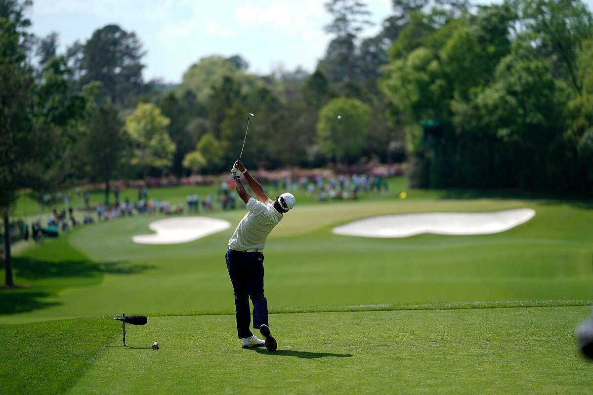 Hideki Matsuyama during the final round of the Masters Tournament at Augusta National Golf Club in Augusta, Ga., on Sunday, April 11, 2021.