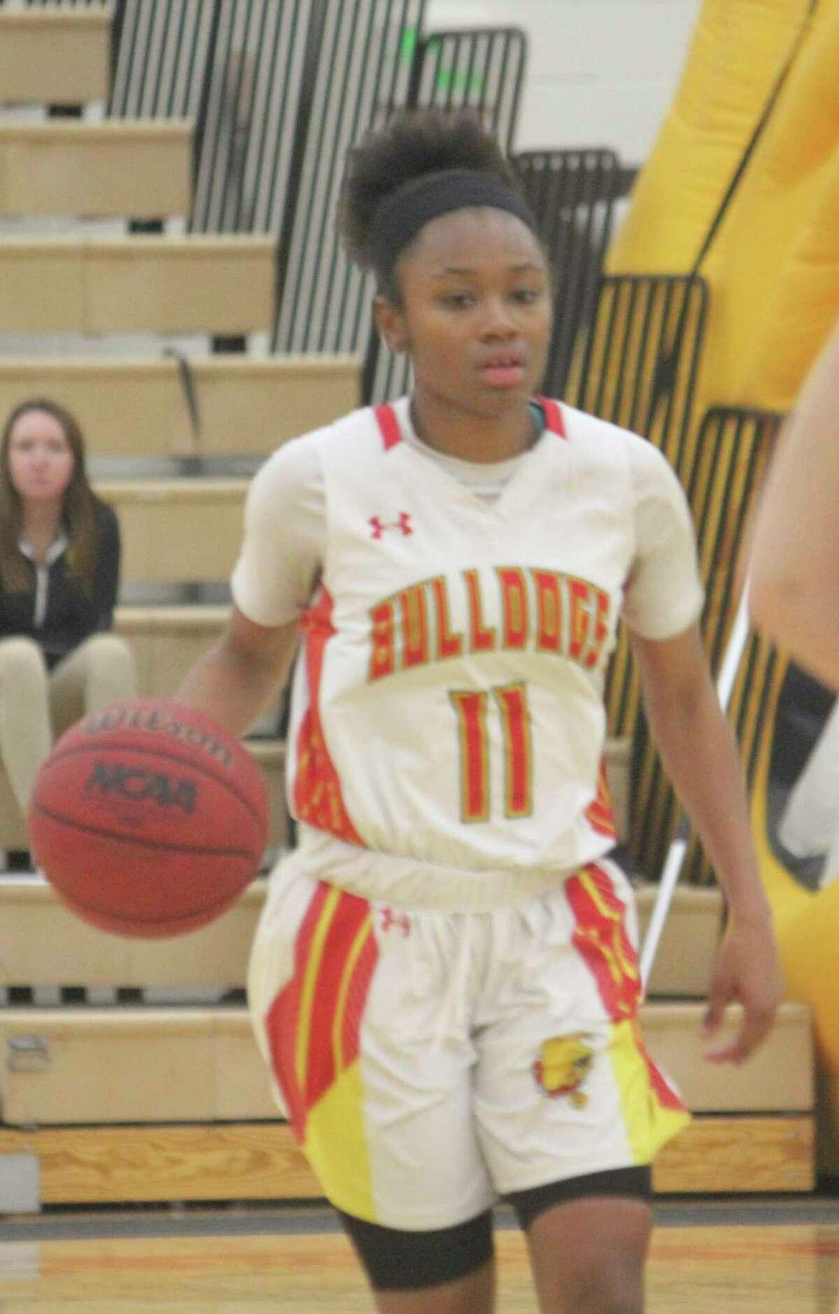 Shaniya Higgins will have senior eligibility for Ferris' women's basketball team next season. (Pioneer photo/John Raffel)