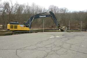 Construction started on the new school being built on the Huckleberry Hill campus. The school will serve pre-kindergarten through fifth grade. Tuesday March 16, 2021, in Brookfield, Conn. A new driveway/access road is being constructed.