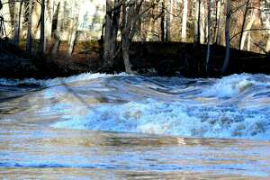 A file photo of the Housatonic River in New Milford, Conn.