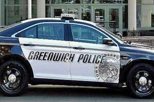 A file photo of a Greenwich, Conn., police cruiser.