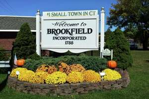 This is a photo forwarded by First Selectman Bill Davidson. The Brookfield Garden Club maintains the welcome sign and flowers around the location at the intersection of Federal Road and Candlewood Lake Road. With the recent Money Magazine honor that named Brookfield one of the top small towns in the country to live the town updated the sign with that distinction. The Garden Club then did a fall harvest planting around the entrance as a welcome to all comers.