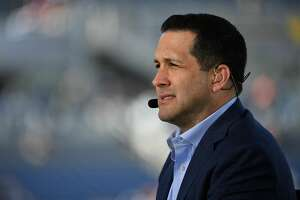 Adam Schefter from ESPN looks on during the 2020 NFL Pro Bowl at Camping World Stadium on Jan. 26, 2020.