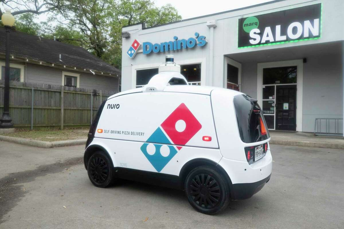 Autonomous robots will be delivering Domino's pizzas to Houstonians through a new partnership between the pizza chain and Nuro, a California-based company that makes self-driving vehicles, the companies announced Monday.