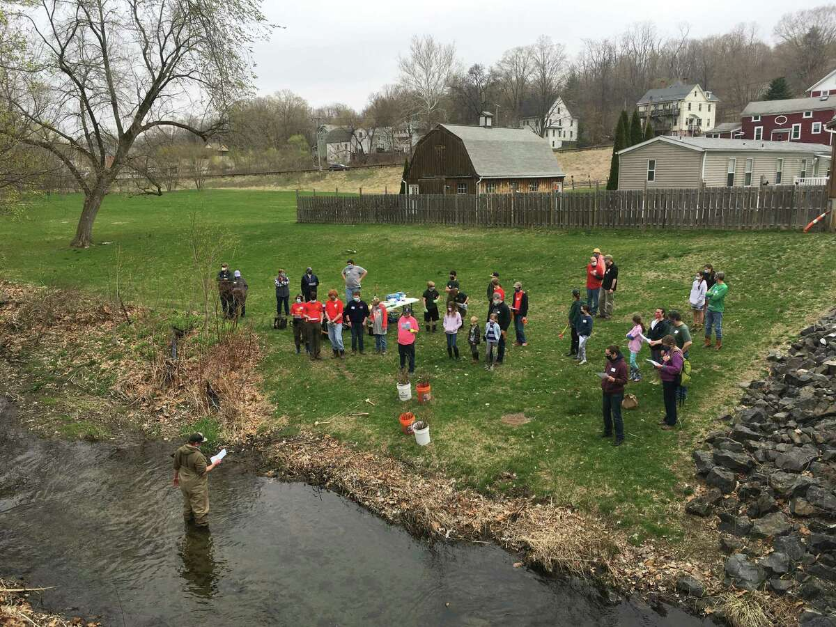 Volunteers from the Dream Stream Team Great Brook Clean-up and Planting