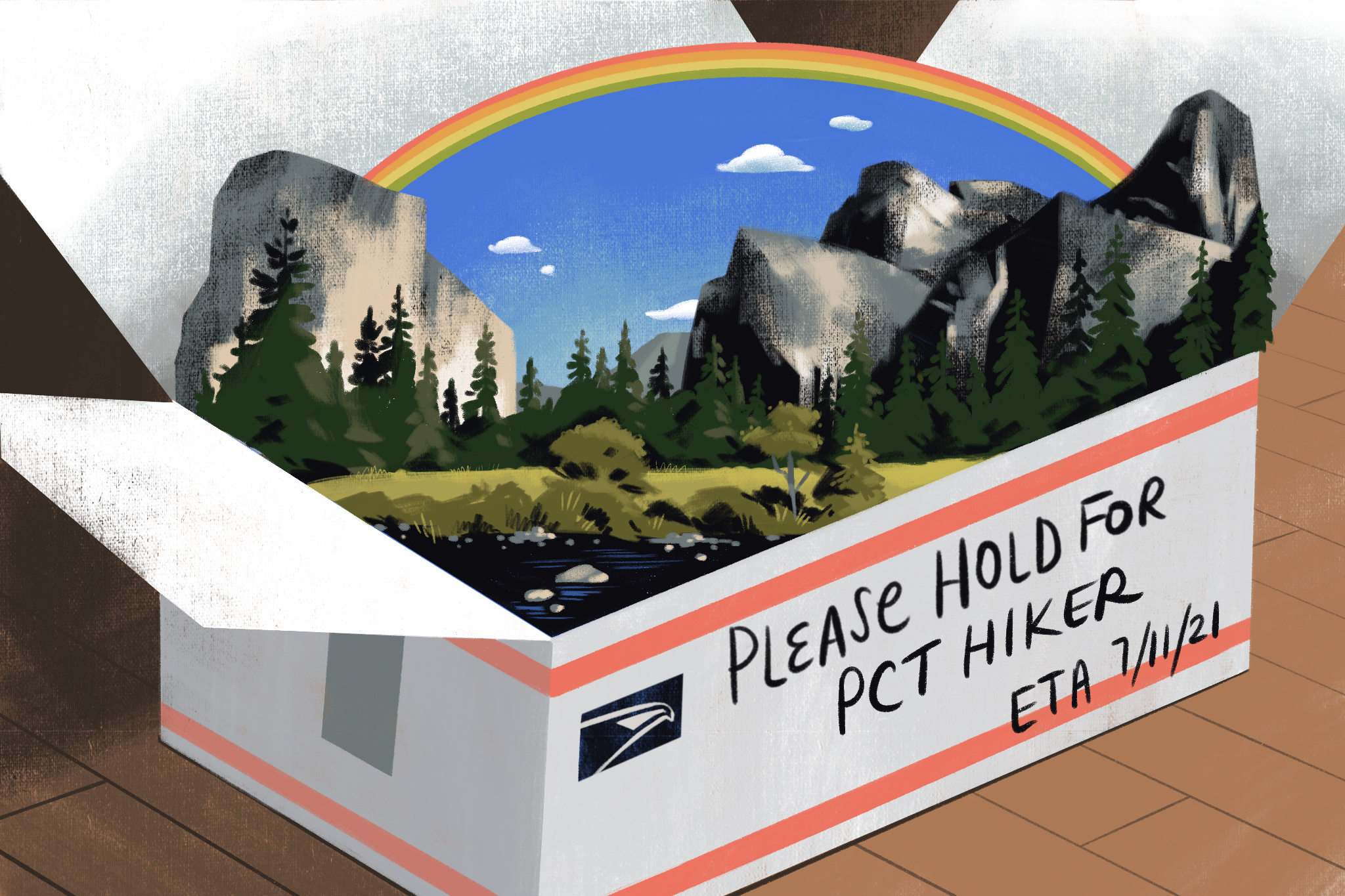 Yosemite's tiny post office receives a wild number of packages