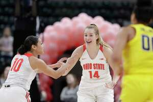 Ohio State's Dorka Juhasz, an All-Big Ten forward, announced on Monday she's transferring to UConn.