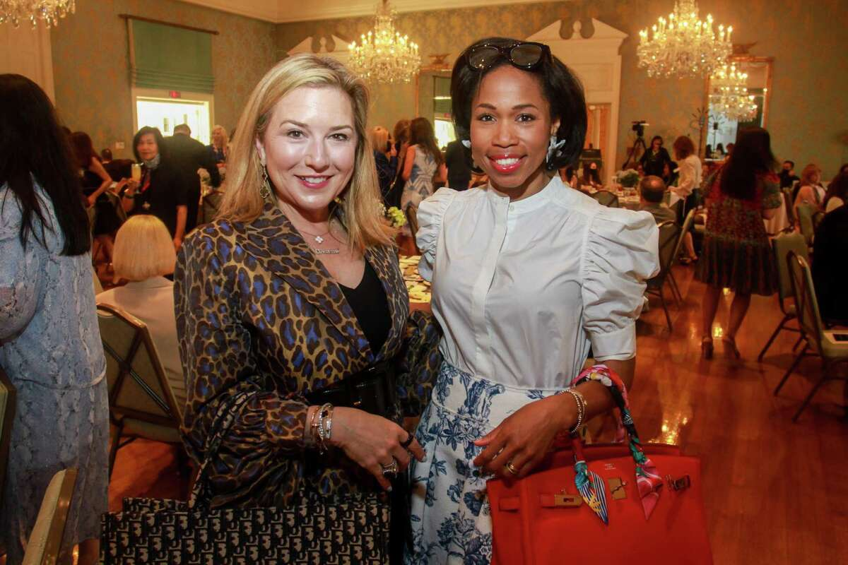 Donae Chramosta, left, and Roslyn Bazzelle Mitchell at the KnowAutism Luncheon in Houston on April 8, 2021.