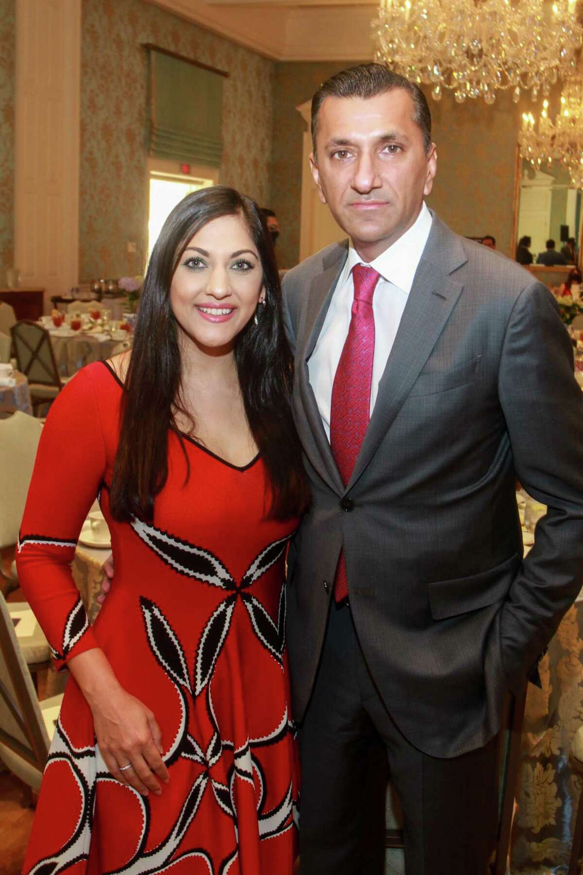 Sippi and Ajay Khurana at the KnowAutism Luncheon in Houston on April 8, 2021.
