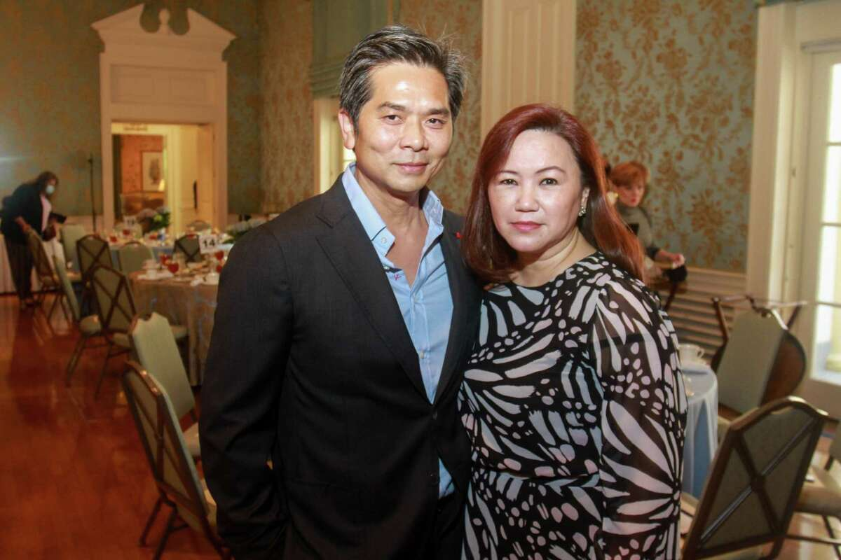 Wayne and Tammy Nguyen at the KnowAutism Luncheon in Houston on April 8, 2021.