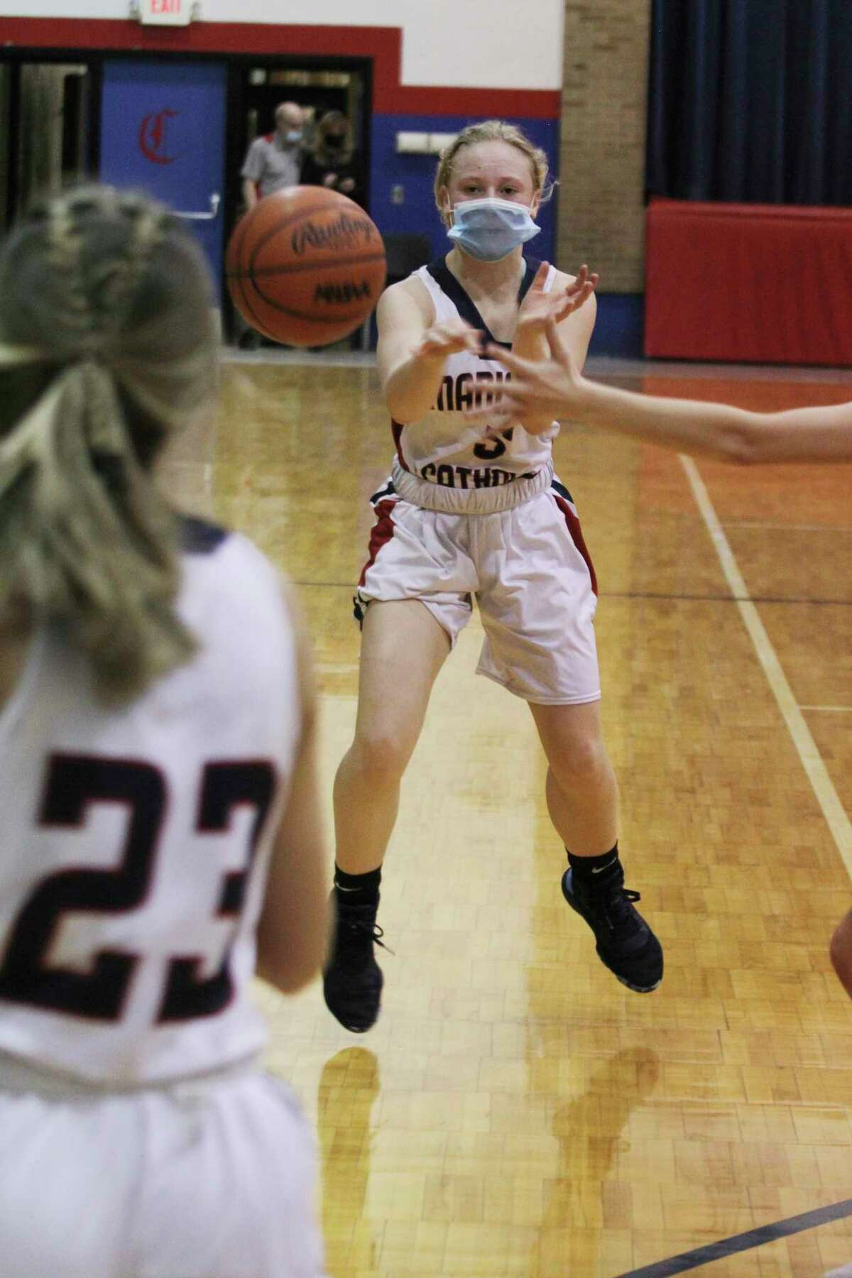 Manistee Catholic Central's Grace Kidd was named second team all-conference in the West Michigan D League this season. (News Advocate file photo)