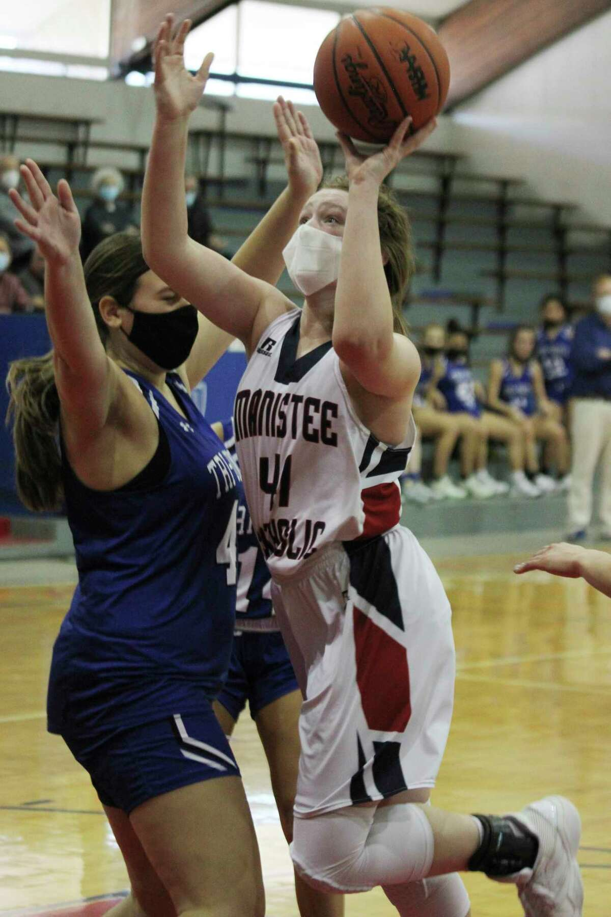 Manistee Catholic Central's Kaylyn Johnson was named first team all-conference in the West Michigan D League this season. (News Advocate file photo)