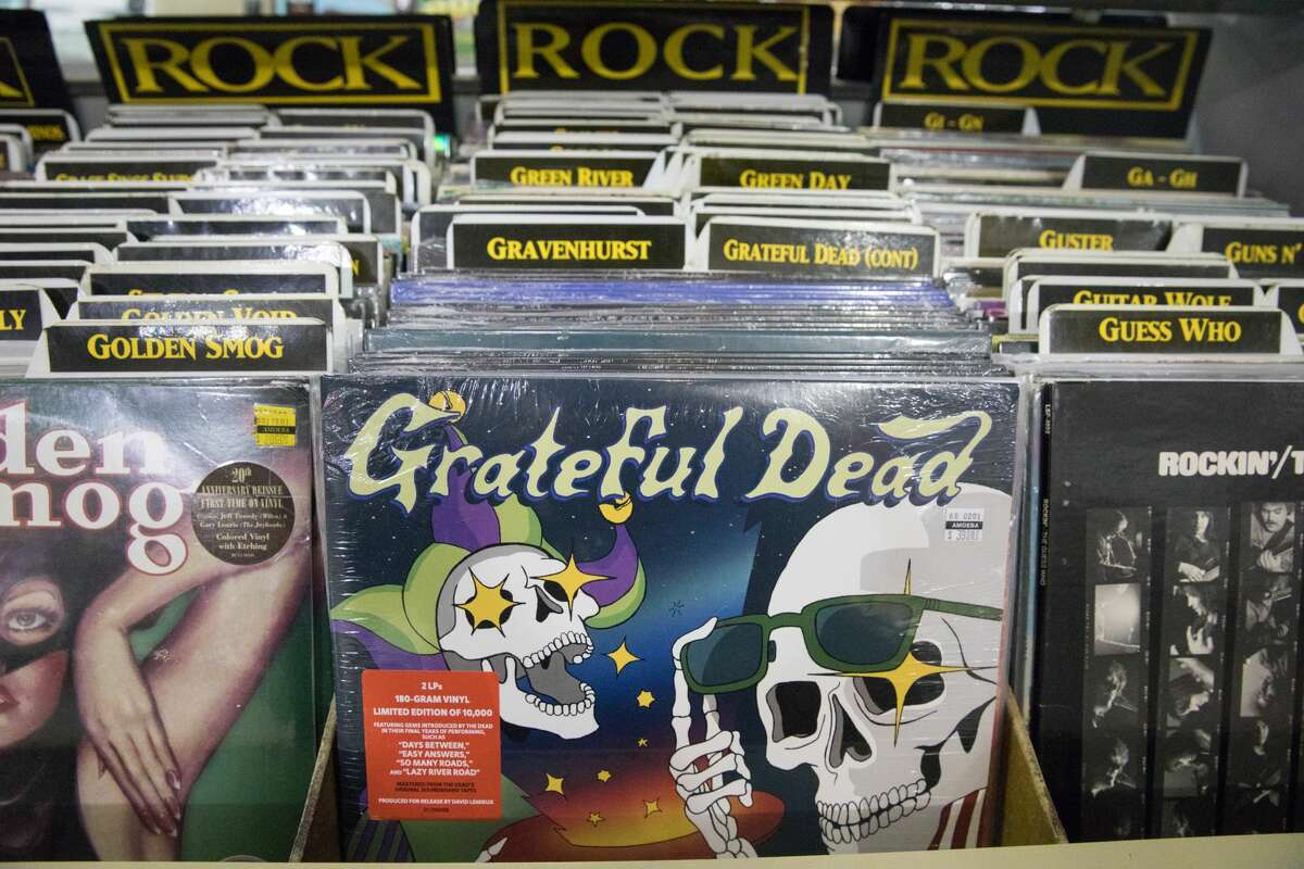 Some of the records for sale at Amoeba Records on Haight Street in San Francisco on April 6, 2021.