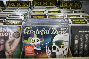 Some of the records for sale at Amoeba Records on Haight Street in San Francisco, California on April 6, 2021.