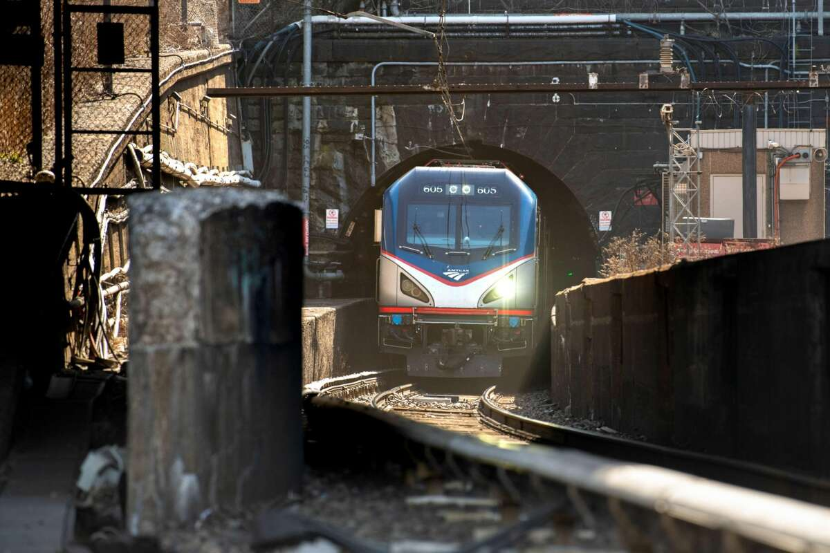 The North River Tunnel in North Bergen, N.J. Amtrak calls the tunnel safe but increasingly unreliable because contaminants that seeped into the concrete after Hurricane Sandy in 2012 flooded the link with corrosive saltwater, The Gateway Program could double rail capacity between New Jersey and New York's Pennsylvania Station. MUST CREDIT: Bloomberg photo by Ron Antonelli