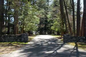 The entrance to the property at 461 Mill Hill Terrace in Fairfield last week.