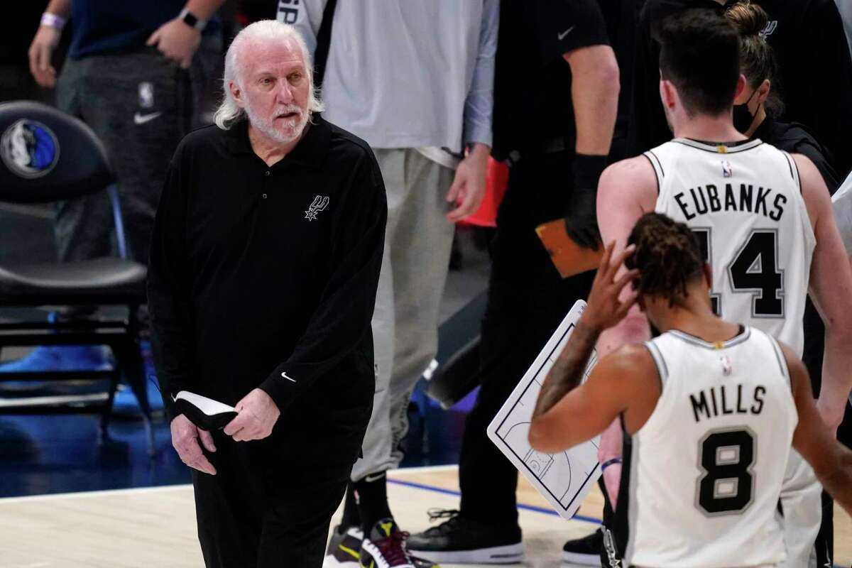 Coach Gregg Popovich refused relent Wednesday when asked about members of the Spurs ownership group who have made contributions to Donald Trump and other Republicans.