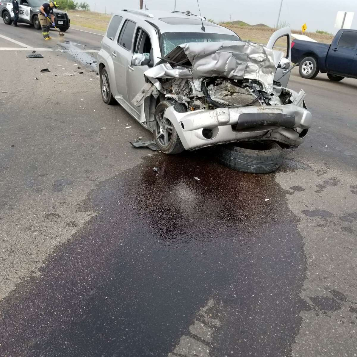 Laredo Fire Department crews said they took four people to Doctors Hospital and Laredo Medical Center after a crash reported in south Laredo.