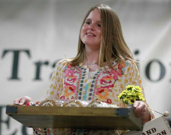 Finley Spikes of Covenant Christian School 4-H won grand champion quick break for pumpkin roll during the non-livestock auction at the Montgomery County Fair and Rodeo, Monday, April 12, 2021, in Conroe. Photo: Jason Fochtman, Houston Chronicle / Staff Photographer / 2021 © Houston Chronicle