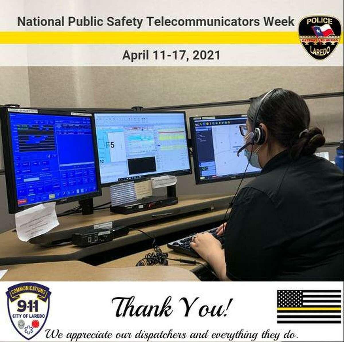 El Departamento de Policía de Laredo agradeció el trabajo de los telecomunicadores en el marco de la Semana Nacional de Telecomunicadores que se celebra año con año la segunda semana de abril.
