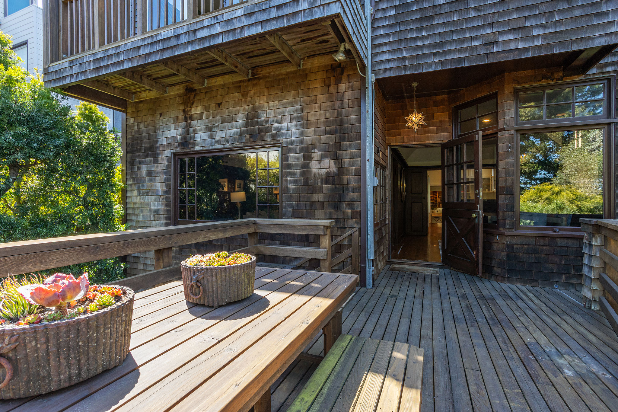 The home has many decks, this one the largest.