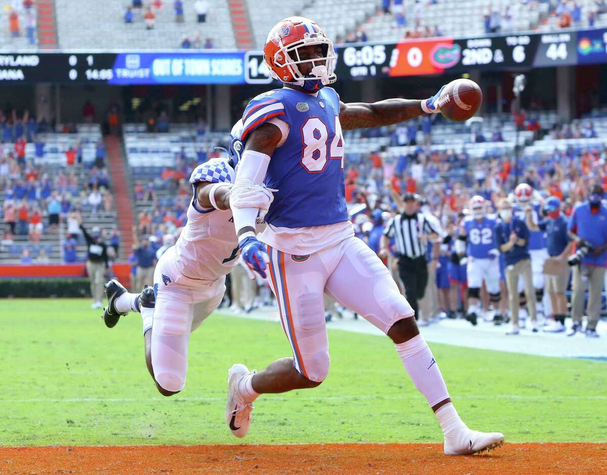Florida tight end Kyle Pitts had 43 catches for 770 yards and 12 touchdowns in eight games this season.