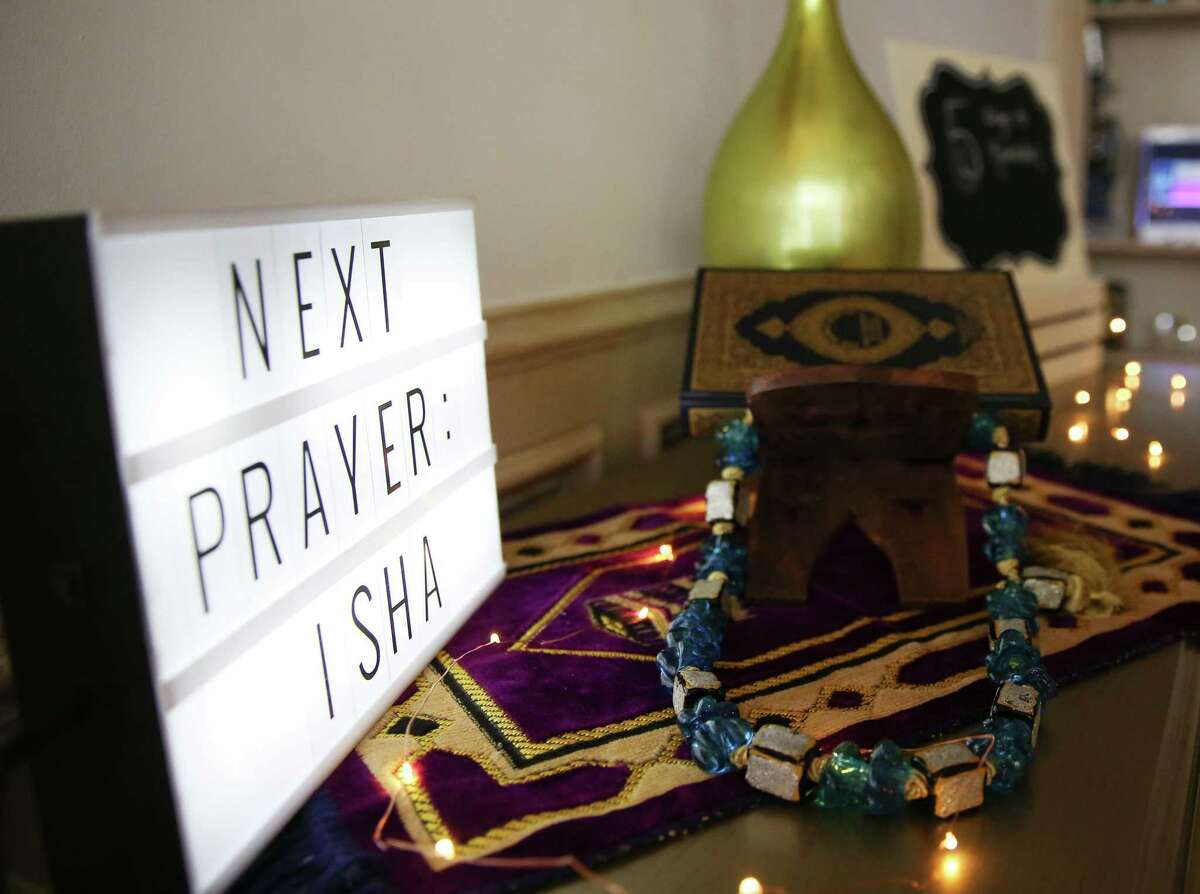 Ramadan decorations at the home of Mehwish Aejaz on Wednesday, April 7, 2021 in Sugar Land .