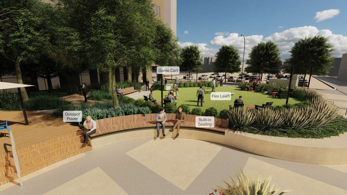 Rendering of Weston Common, scheduled to open at 112 E. Pecan St. in early July.
