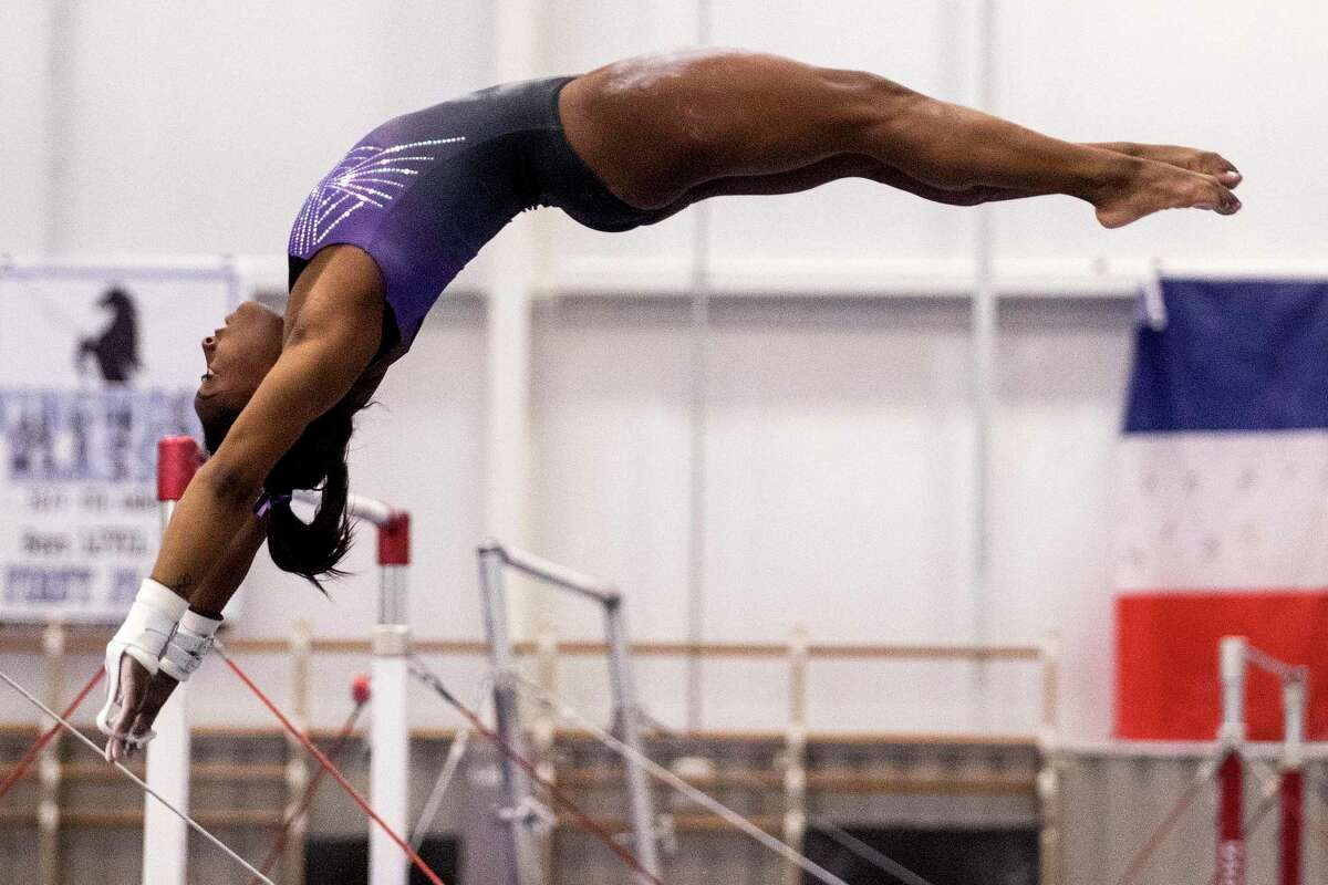 Olympic champion Simone Biles' training has been limited to her facility in Spring.