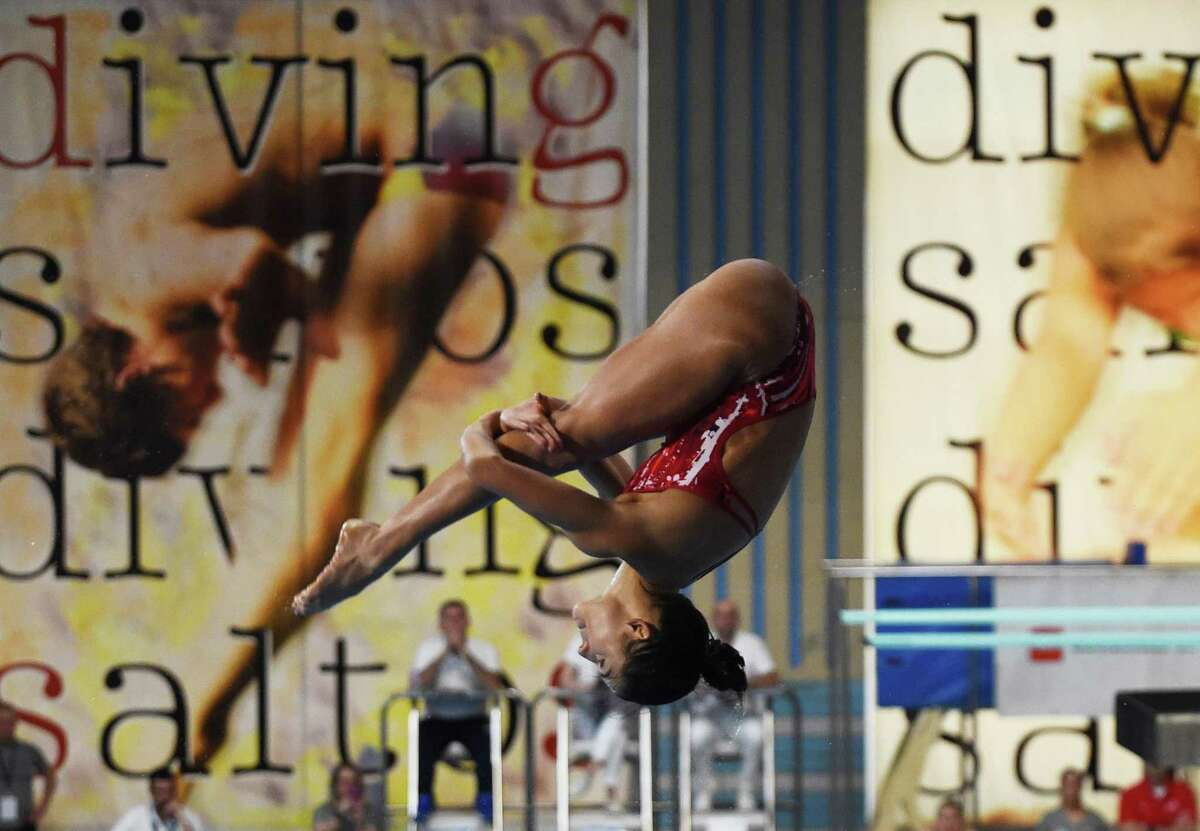 Kassidy Cook, competing in Spain last year, pulled out of the U.S. Olympic trials in the 3-meter competition.