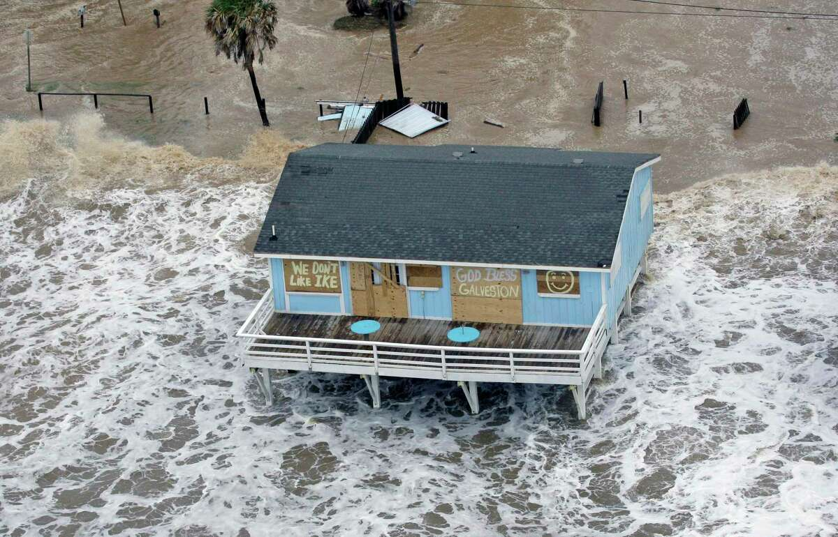 Galveston weathers Hurricane Ike on Sept. 12, 2008. A reader says Ike Dike funds should go to education.