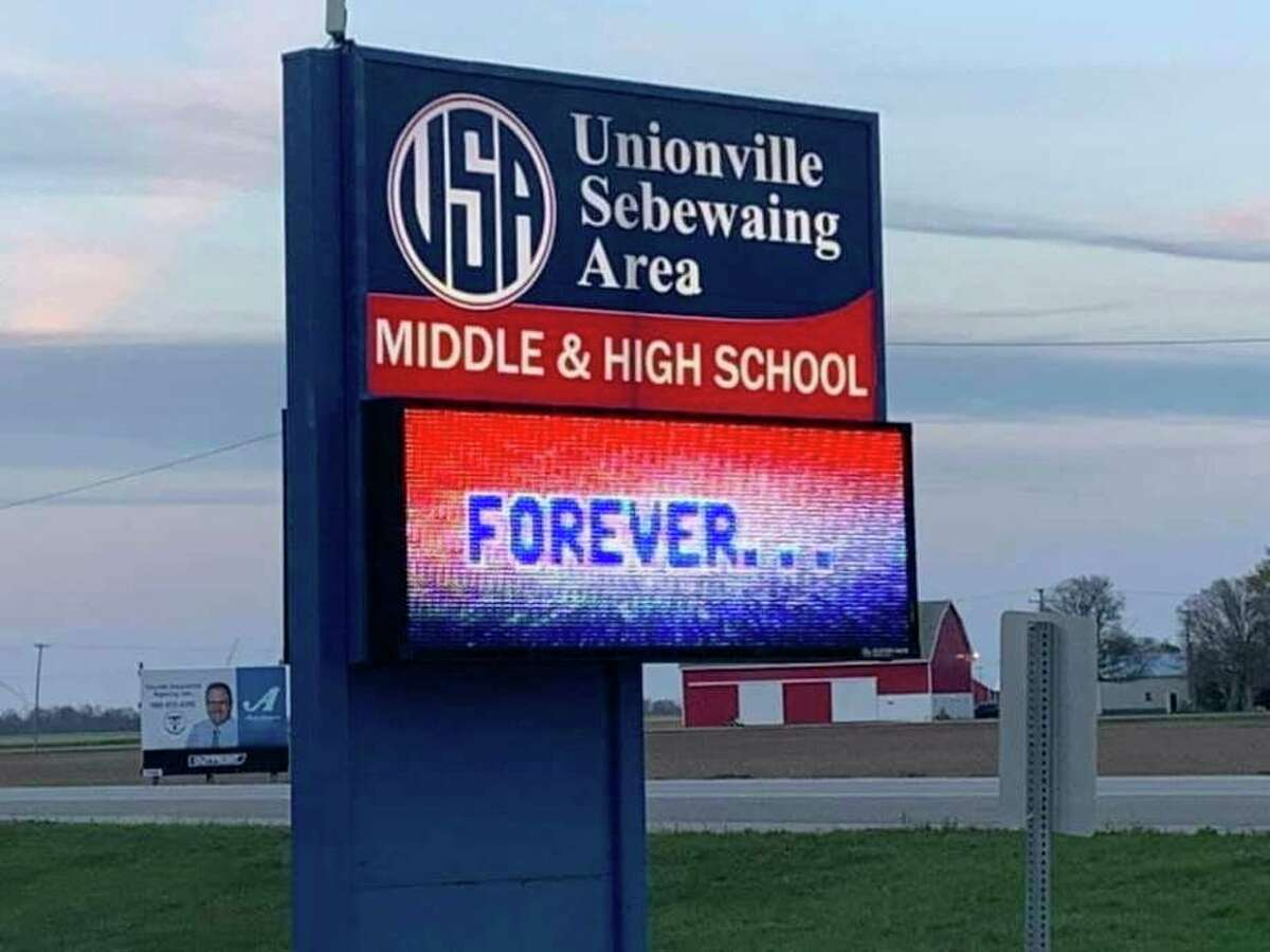 The Unionville Sebewaing Area School District, which announced six new cases among students on Saturday. The district also informed parents of how it will look into sending infected students home going forward. (Tribune File Photo)