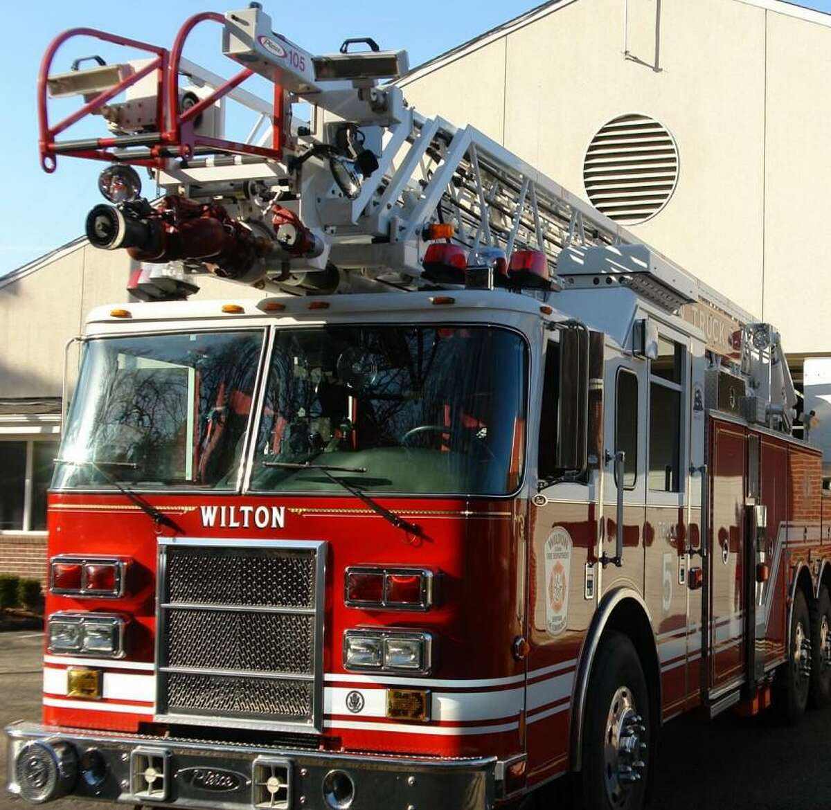 Wilton Fire Chief Jim Blanchfield was able to secure the purchase of a new ladder truck for the department to replace the 17- year- old laddet that is currently serving the town.