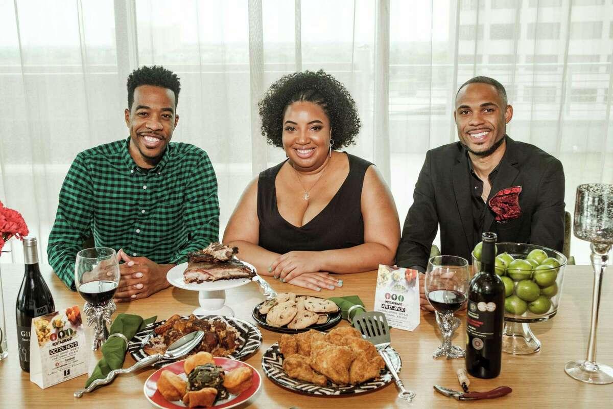 Founders of Black Restaurant Week, left to right: Derek Robinson, Falayn Ferrell and Warren Luckett.