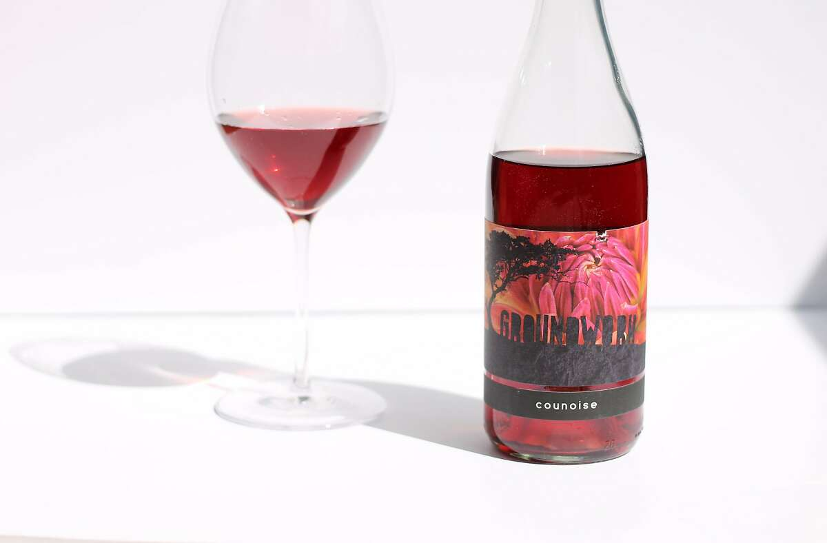 Groundwork's Counoise, a light-bodied, carbonic red wine from a Paso Robles winemaker.