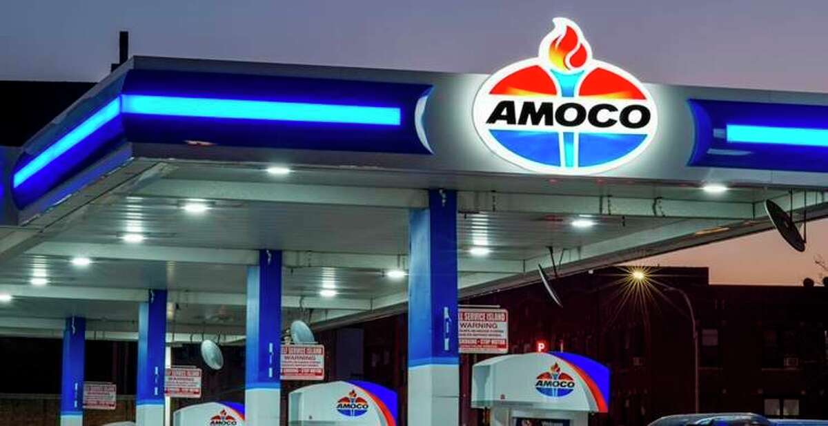 Curries BP station on Maple Street will soon carry the updated Amoco logo with the torch and the red, white and blue coloring. Owner Pat Currie says he is excited to be returning to the Amoco brand. (Submitted photo)