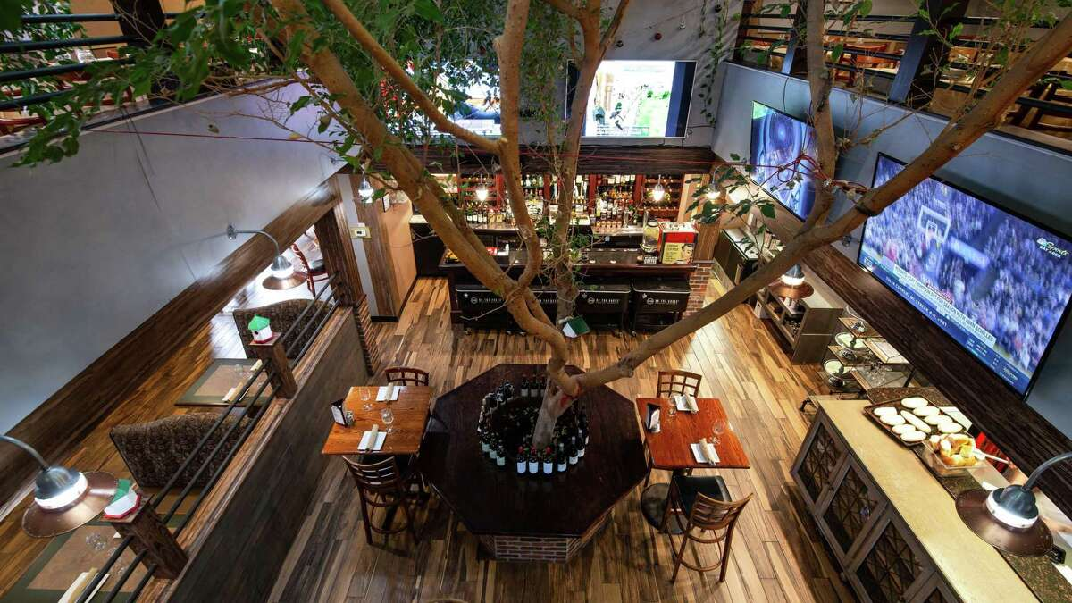 With a bi-level space - marked by a live ficus tree growing through the center of the restaurant, with arching branches - Ponza offers an upstairs private dining room and event space, in addition to its main dining areas and outdoor patio.
