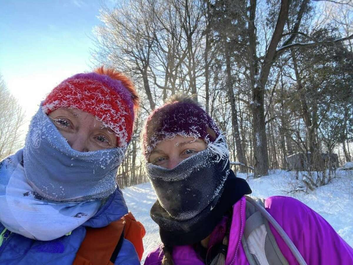Marit Janse, Kristie Wheeler and Steve Ruggirello are planning to hike about 600 miles of the North Country Trail along the Lower Peninsula by summer. The trio started on Jan. 1 and part of that needed to include the usage of snowshoes.