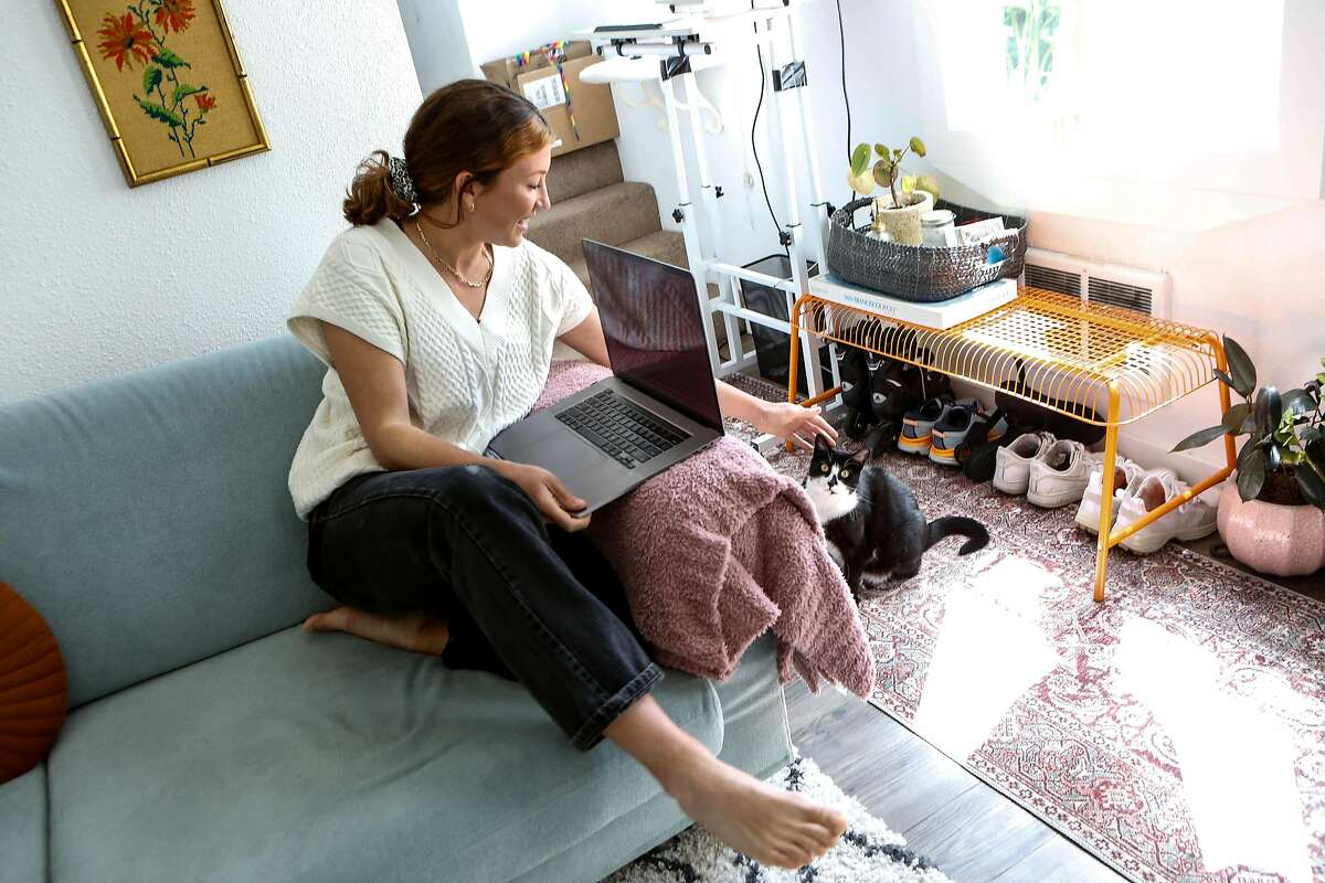 Jules Kochis says her adopted cat, Millie, has been a godsend during her time working from home during the pandemic.