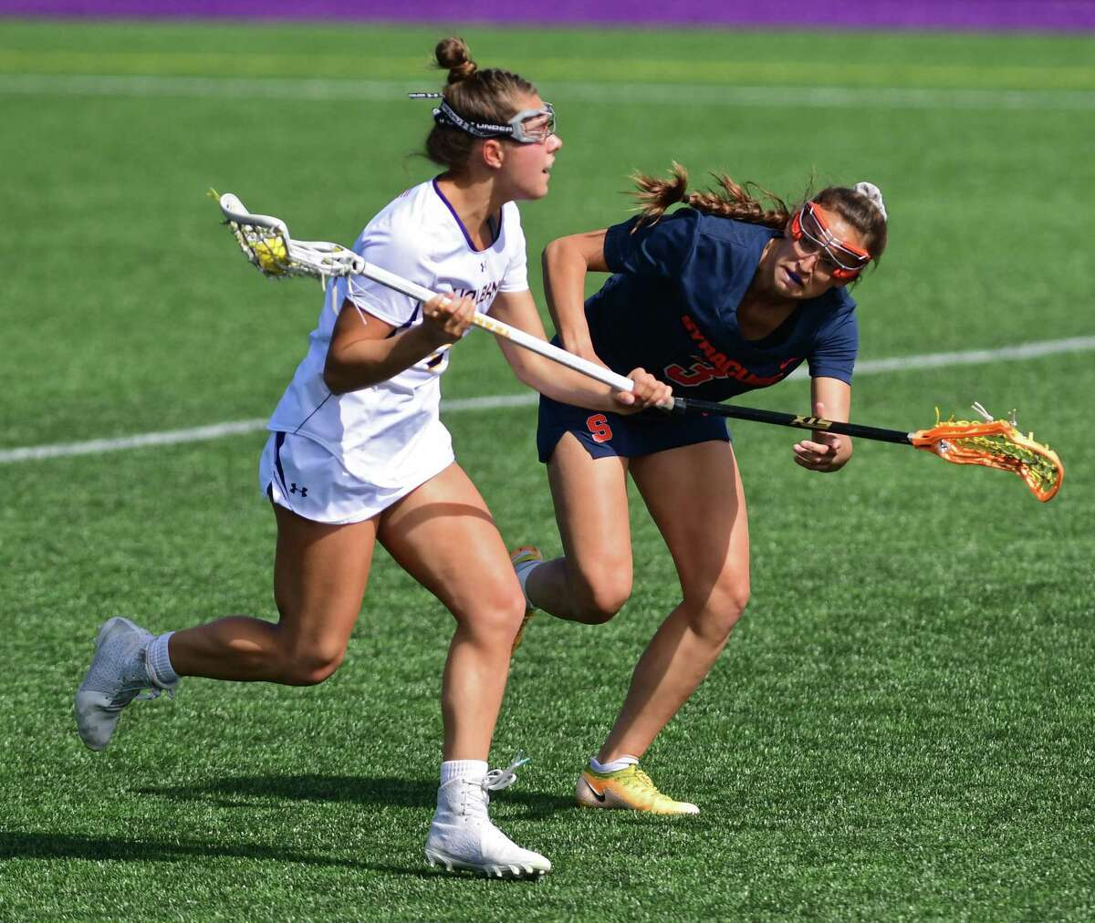 UAlbany's Kyla Zapolski, left, said the Great Danes will not overlook Vermont despite a possible rematch looming with Stony Brook. (Lori Van Buren/Times Union)