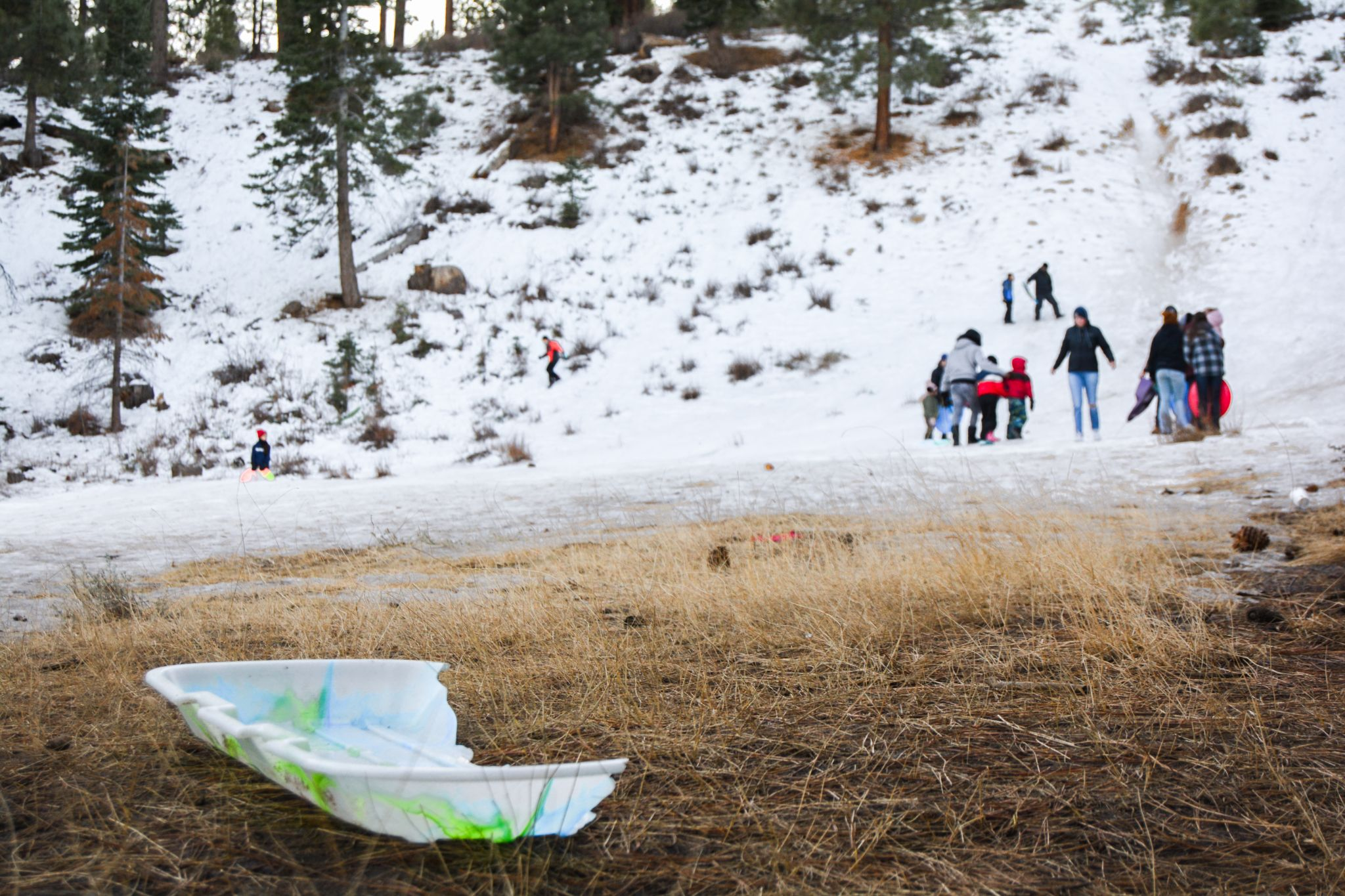 Volunteers collect 5,684 gallons of trash from Tahoe's sled hills