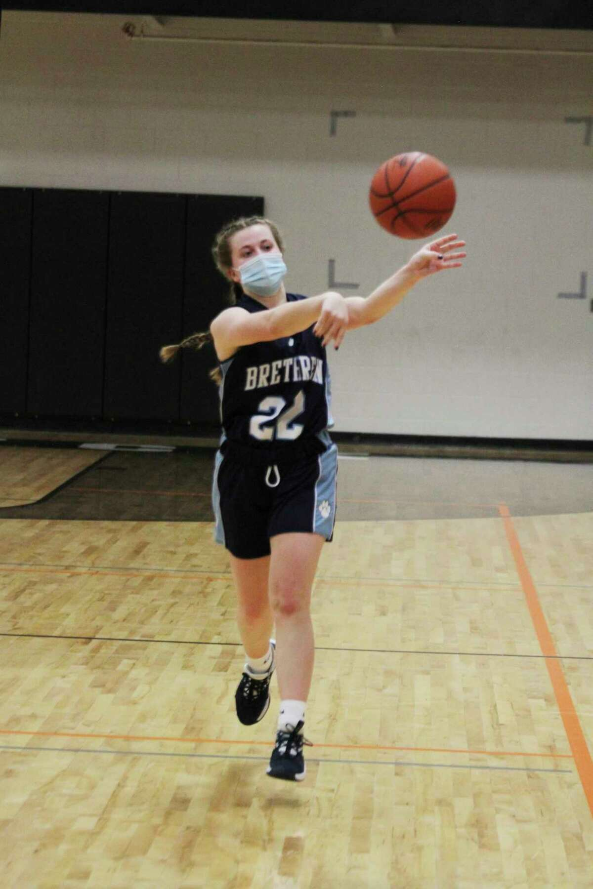 Brethren's Halle Richardson was an honorable mention on this year's all-West Michigan D League selections. (News Advocate file photo)
