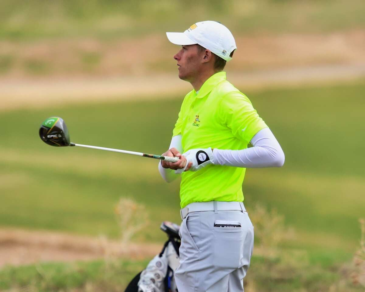 Midland College's Samual McKenzie is shown during action of the NJCAA Southwest Championship at The Rawls Course in Lubbock.
