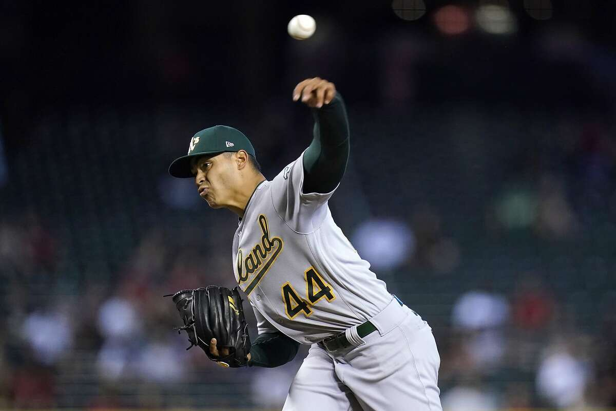 A's left-hander Jesus Luzardo couldn't get out of the third inning Tuesday in Arizona, giving up five runs.