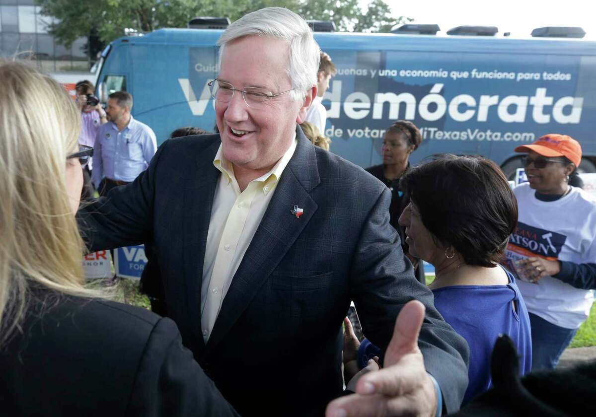 Mike Collier, the Democratic nominee for lieutenant governor in 2018, is shown during an event outside the Fort Bend County Democratic Headquarters, 13515 Southwest Freeway, Thursday, Oct. 25, 2018, in Sugar Land. He is making his second bid for the post in 2022.