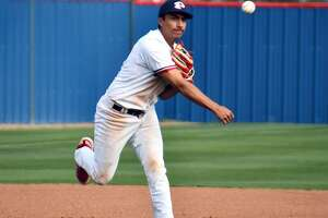 Plainview third baseman Zach Hernandez fires over to first during a District 3-5A baseball game against Canyon Randall on Tuesday at Bulldog Park.